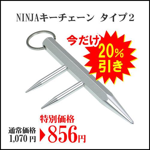 NINJAキーチェーン タイプ2 シルバー